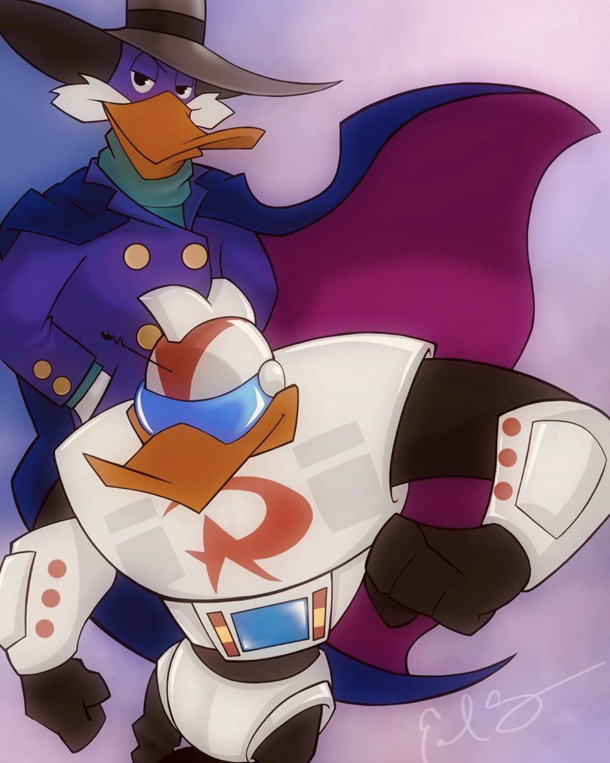 Darkwing & Gizmo Duck