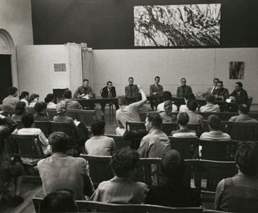 Students debate Cadets from West Point c. 1956