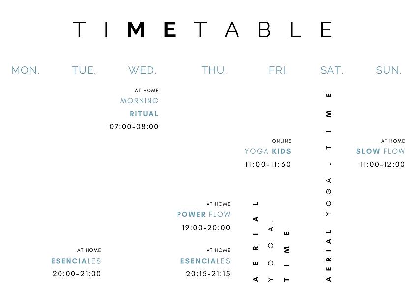 Timetable TreeTredici