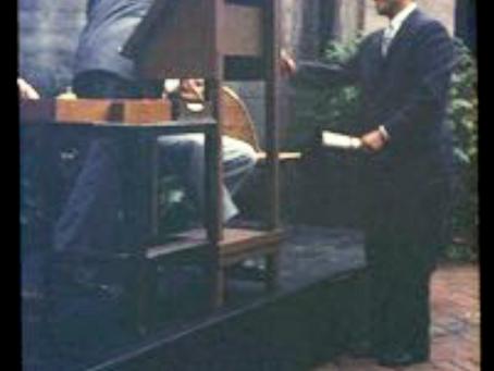 Courtyard Commencement 1957 Sung-Woo Chun
