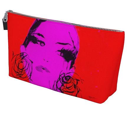 Red Mia Makeup Bag