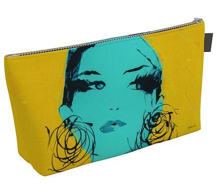 Yellow Mia Makeup Bag