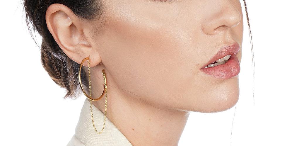 Cassidy Chain Hoop Earring