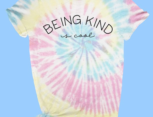 Being Kind tie dye Tee