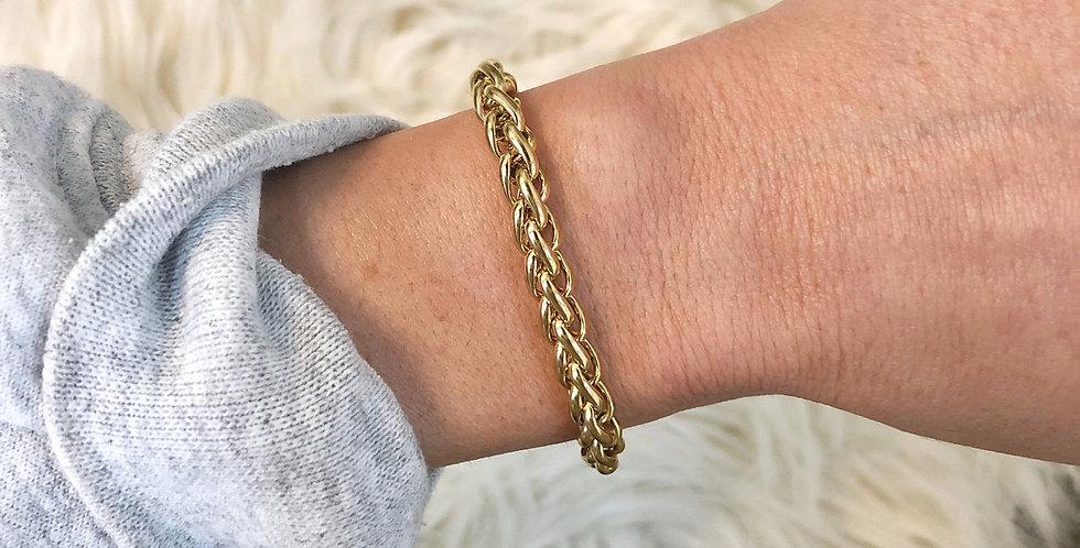 Skylar Wheat Chain Bracelet