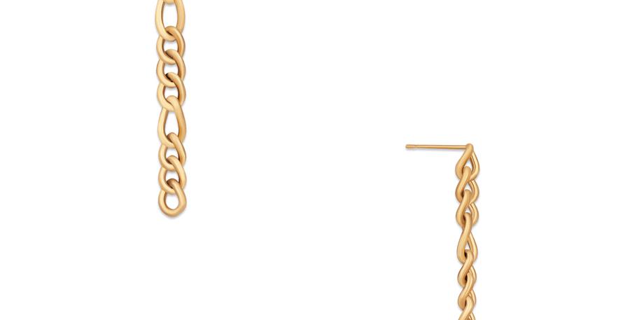 Dixi Drop Figaro Chain Earring
