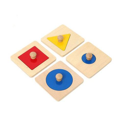 4 khay ghép hình vuông, tam giác, tròn to và tròn nhỏ