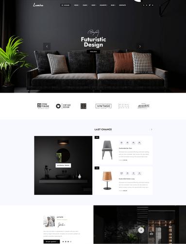 Mẫu thiết kế website nội thất
