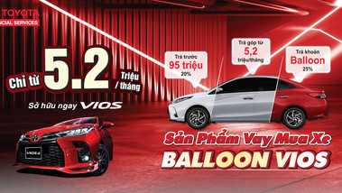 Chỉ từ 5.2 triệu đồng/ tháng dễ dàng sở hữu Toyota Vios