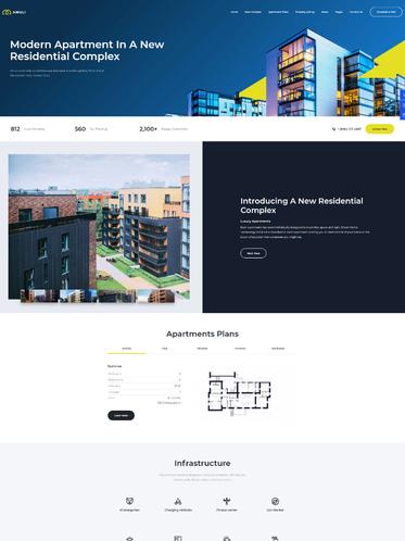 Mẫu Website Bất động sản