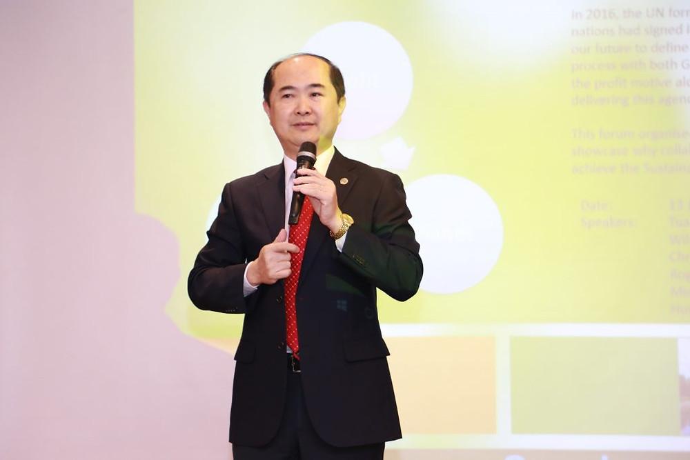 """Chủ tịch BNI Việt Nam – Ông Hồ Quang Minh: """"Việc đào tạo kiến thức và kỹ năng cho Ban LT là một việc rất hệ trọng."""" (Ảnh: VP BNI Việt Nam)"""