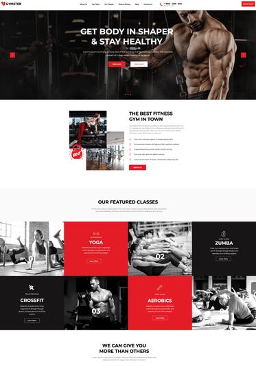 thiết kế website trung tâm thể hình