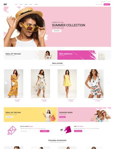 Mẫu giao diện web thời trang