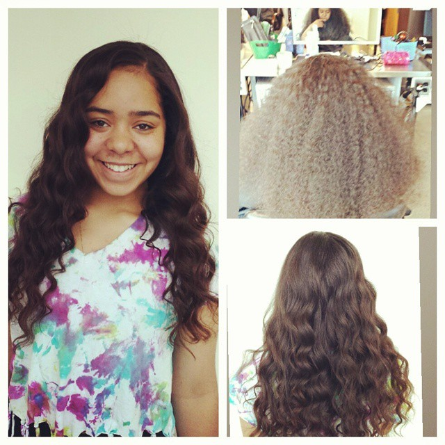 Instagram - Susie!!!! Her hair is absolutely gorgeous.  Blowout and Wand Curled  She was going to pr