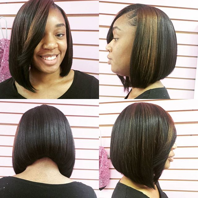 360° View of an asymmetric Bob by me_Book your next hair experience with me (link in bio)_#boblifest