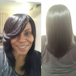Client had this sew in since Thanksgiving, she just received a weave retouch, which includes a tight