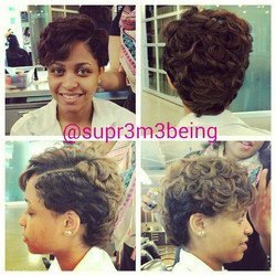 Instagram - Short hair styled By Me  #idohair #cosmetologist #beauty #fashion #highlights #hairporn