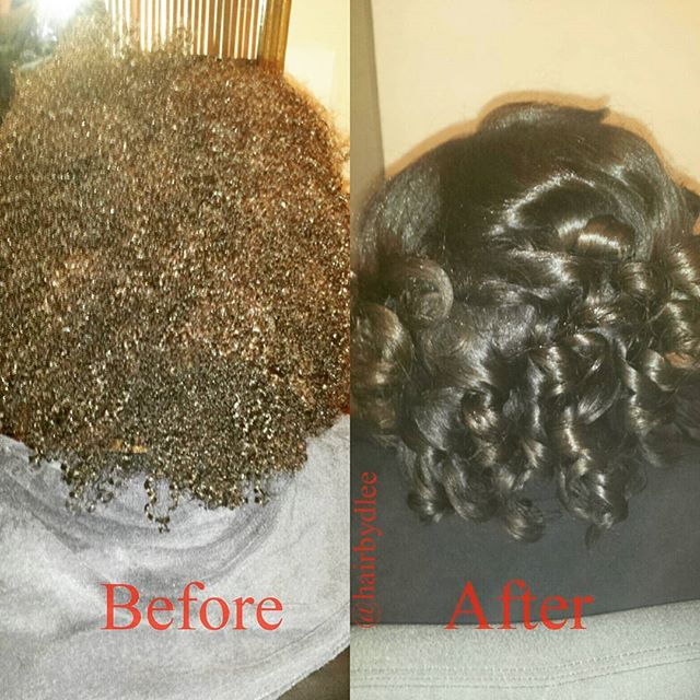 Press N Curl_Before and After on a CLIENT _Book with me for your next hair appt.jpg