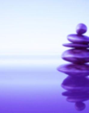 Purple rocks for meditation, calmness