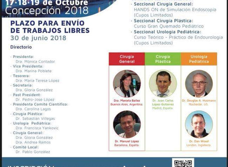 Congreso Chileno Cirugía Pediatrica octubre 2018