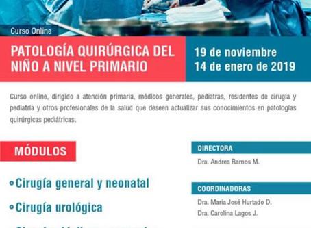 Curso de patologías quirúrgica en el niño para atención primaria.