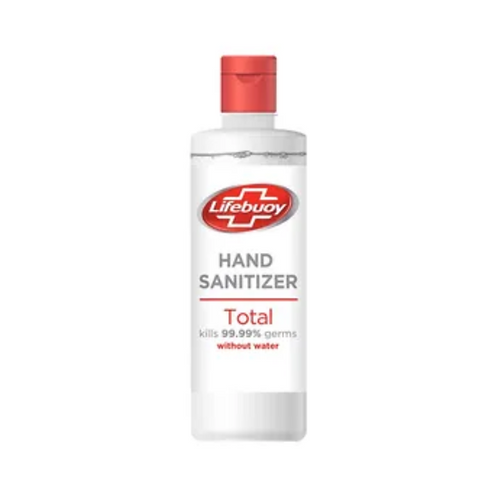 A bottle of Lifebuoy Alcohol Based Germ Protection Hand Sanitizer 500 ml