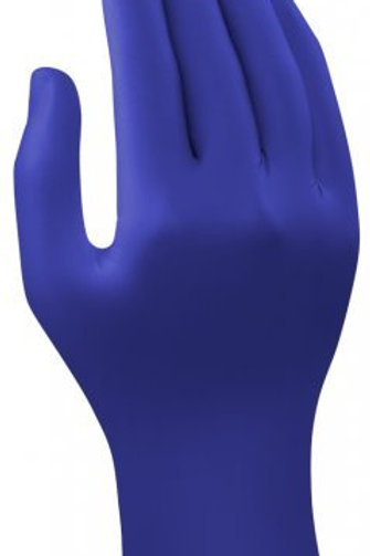 Unisoft Nitrile Blue Examination Gloves, 24 cm x 9.4 cm (Pack of 100)