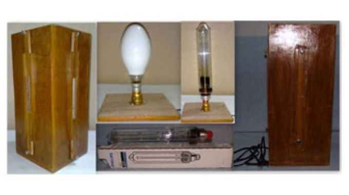Mercury Lamp Wooden Box