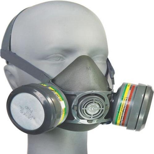 Venus Safety V-800+7800 Dual Half Mask with Rubber Multipurpose ABEK Cartridge