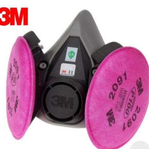 3M 6200 Reusable Respirator with One Pair of Cartridge 2091