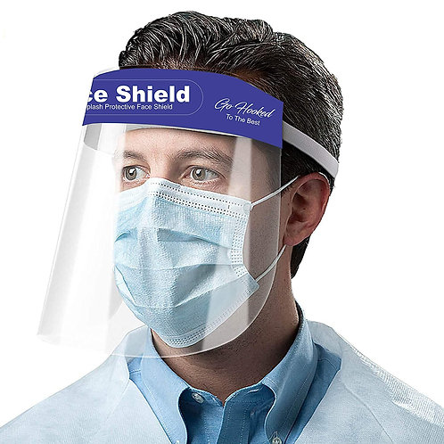 Go Hooked 350 Microns Safety Face Shield, Anti-fog Full Face Shield, (5 pcs)