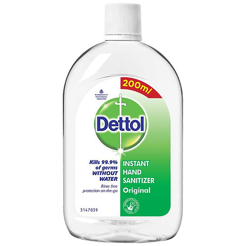 Dettol Original Germ Protection Alcohol based Hand Sanitizer Refill Bottle 200ml