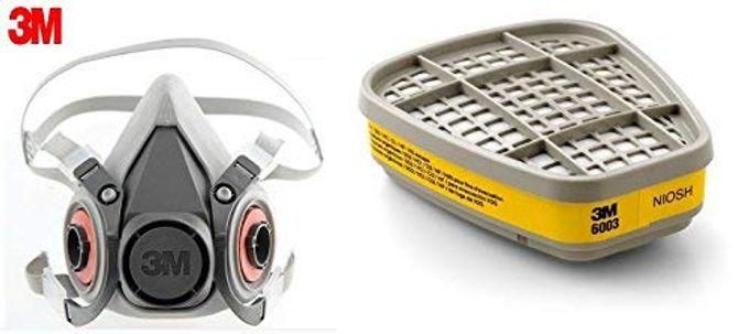 3M 6200 Medium Half Facepiece and 6003 Organic Vapour/Acid Gas Cartridge