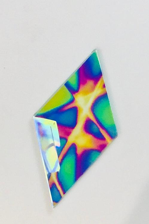 "2"" x  4"" dichroic diamonds bevels in pixie sticks pattern"