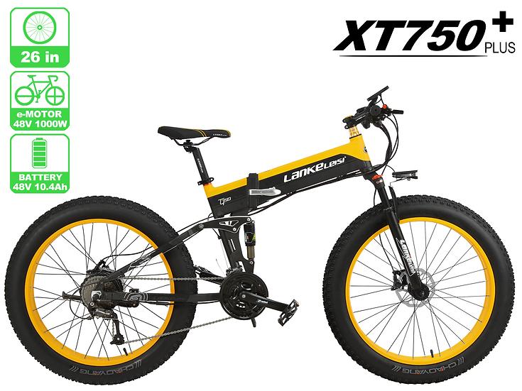 XT750 PLUS LankRover 26in Fat tire Foldable Electric Bike