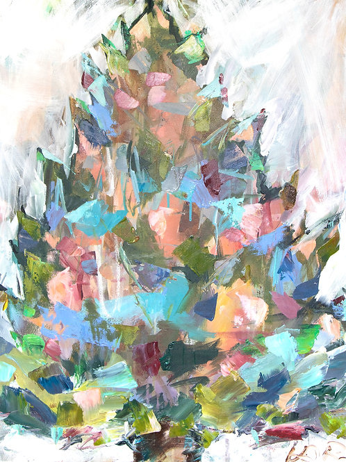 ORIGINAL CONTEMPORARY PATCHWORK CHRISTMAS TREE
