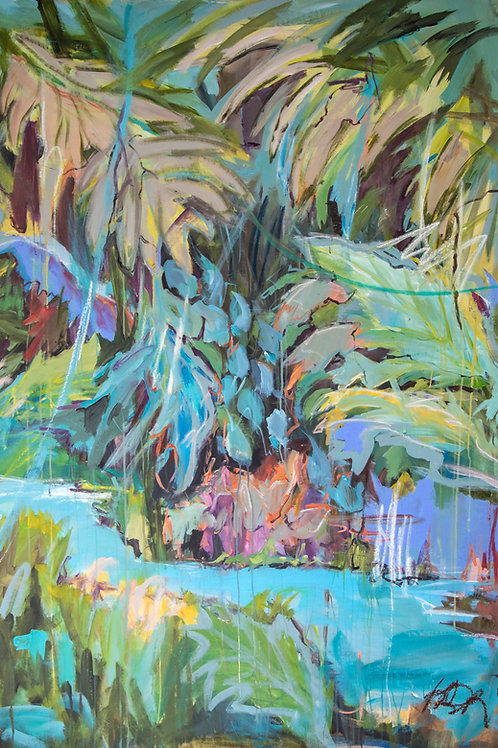 TROPIC LOVE (6ftx5ft) - UNSTRETCHED