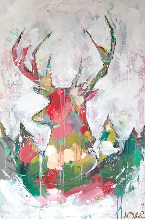PRINT- Patchwork reindeer (traditional)