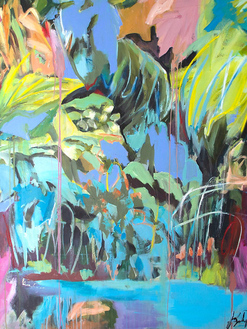 FALL OF SUMMER  (5ftx5ft)