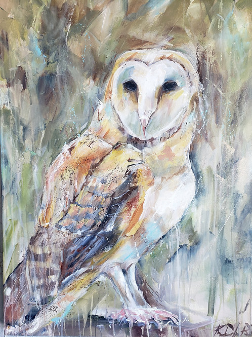 PRINT-Barn owl