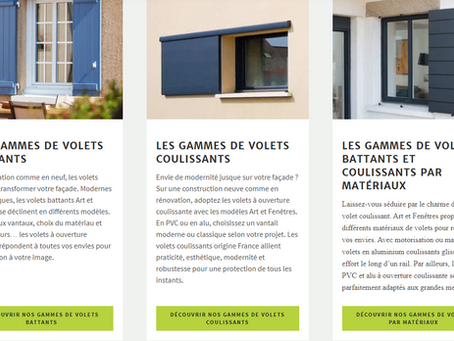 NOS GAMMES DE VOLETS BATTANTS, VOLETS COULISSANTS ET VOLETS ROULANTS