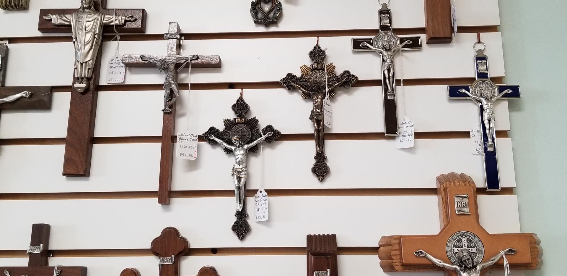 Wall crucifixes and sick call sets
