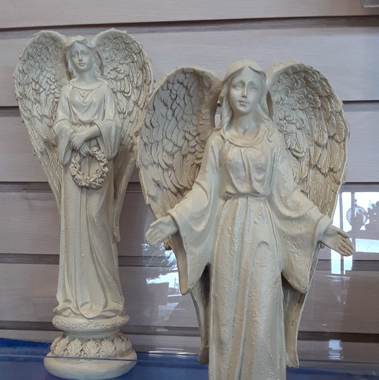 Antique White Standing Angels