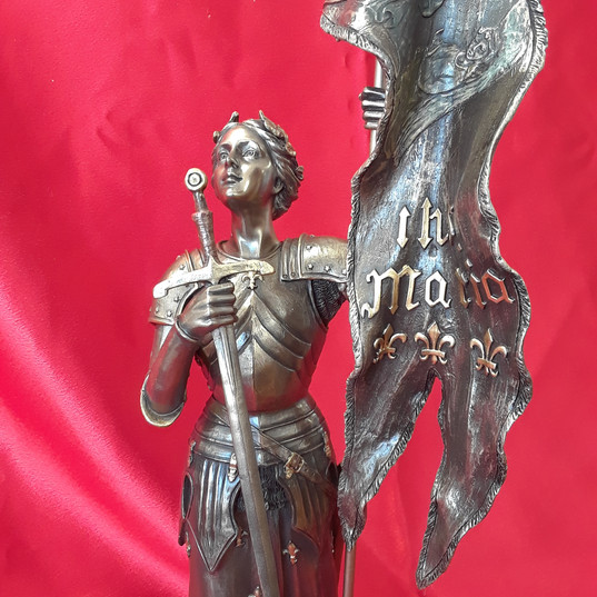 Bronze St. Joan of Arc - front view