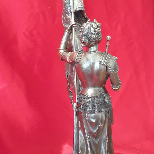 Bronze St. Joan of Arc -- back view