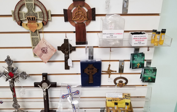 Wall crucifixes and Irish crosses