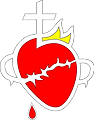 Sacred Heart Logo Heart Only,  transpare