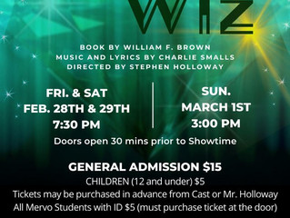 Come see the Wiz !  Baltimore, MD  February 28th 29th & March 1st 2020 Mervo Auditorium  Reserve