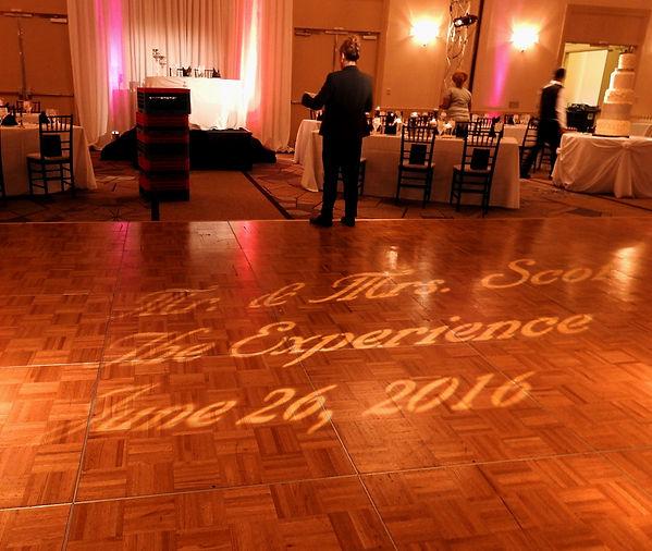 Wedding Dance Floor Monogram  Gobo Lighting