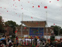 Village Commons Ground Breaking Confetti Launch